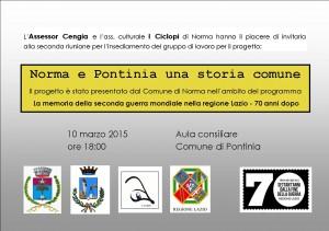 INCONTRO DELL'ASSOCIAZIONE I CICLOPI con il Comune di Pontinia e le Scuole